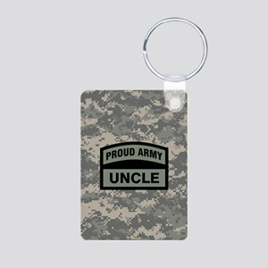 Proud Army Uncle Camo Aluminum Photo Keychain