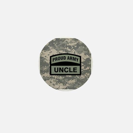 Proud Army Uncle Camo Mini Button