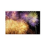 Fireworks Rectangle Magnet
