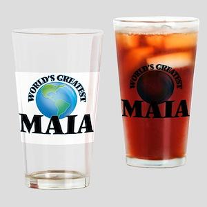 World's Greatest Maia Drinking Glass