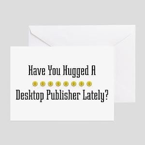 Hugged Desktop Publisher Greeting Cards (Package o