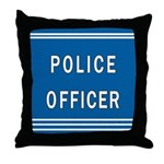 Police Officer Blues Throw Pillow