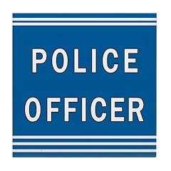 Police Officer Blues Tile Coaster