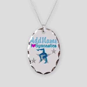 FIERCE GYMNAST Necklace Oval Charm