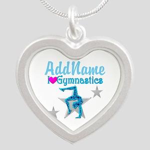 FIERCE GYMNAST Silver Heart Necklace