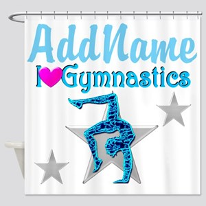 FIERCE GYMNAST Shower Curtain