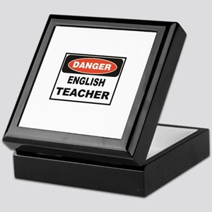 English Teacher danger Keepsake Box