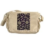 Abstract Whimsical Flowers Messenger Bag