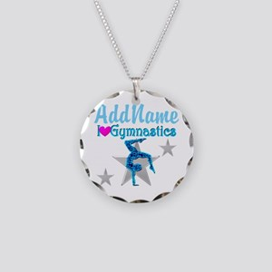 VIBRANT GYMNAST Necklace Circle Charm