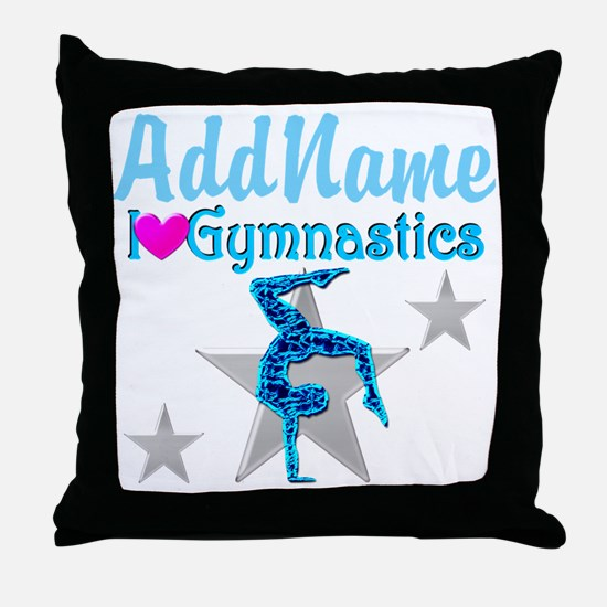 VIBRANT GYMNAST Throw Pillow