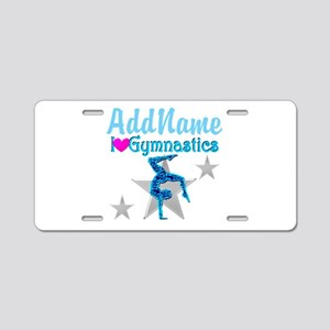 VIBRANT GYMNAST Aluminum License Plate