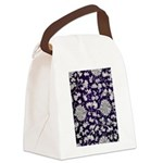Abstract Whimsical Flowers Canvas Lunch Bag