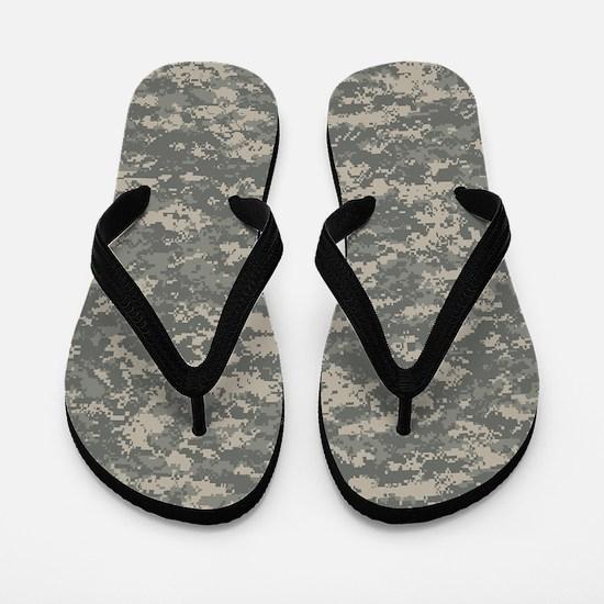 Digital Camo Flip Flops