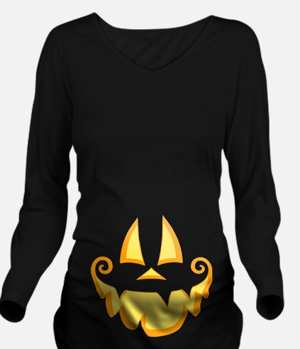 Jack Face Long Sleeve Maternity T-Shirt