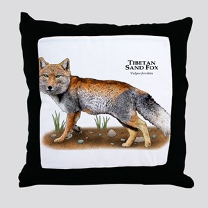 Tibetan Sand Fox Throw Pillow