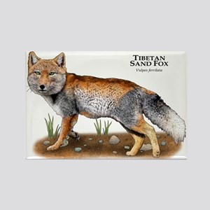 Tibetan Sand Fox Rectangle Magnet
