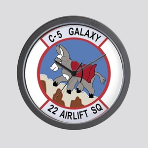 22nd Airlift Squadron Wall Clock