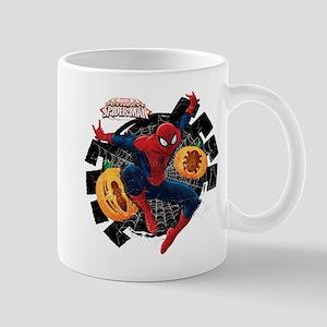 Spider-Man Web and Pumpkins Mug