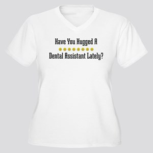 Hugged Dental Assistant Women's Plus Size V-Neck T