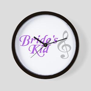Bride's Kid(T.Clef) Wall Clock