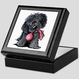 Playful Newfie Pup Keepsake Box