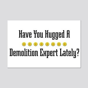 Hugged Demolition Expert Mini Poster Print