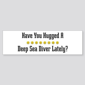Hugged Deep Sea Diver Bumper Sticker