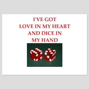 dice 5x7 Flat Cards