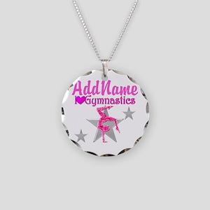 GYMNASTICS LOVE Necklace Circle Charm