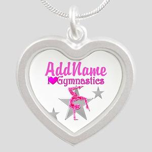 GYMNASTICS LOVE Silver Heart Necklace