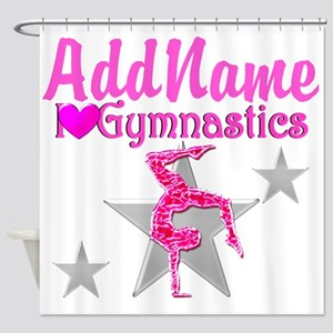 GYMNASTICS LOVE Shower Curtain