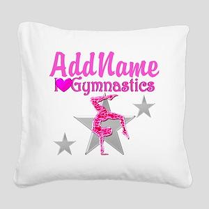 GYMNASTICS LOVE Square Canvas Pillow