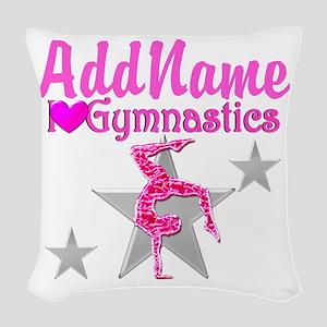 GYMNASTICS LOVE Woven Throw Pillow