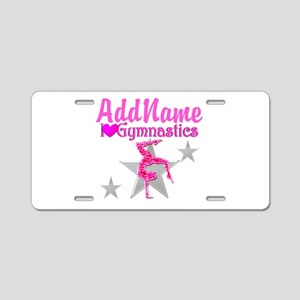 GYMNASTICS LOVE Aluminum License Plate