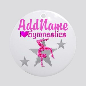 GYMNASTICS LOVE Ornament (Round)