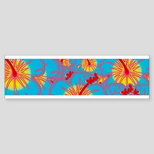 Light blue hibiscus Bumper Sticker