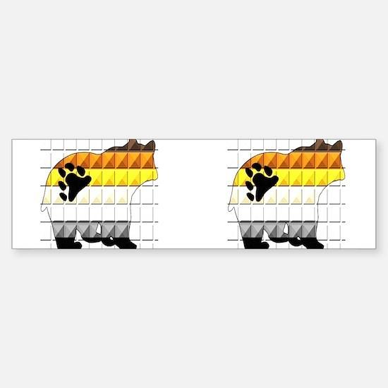 PRIDE BEAR-TEXTURED-2images- Bumper Bumper Bumper Sticker