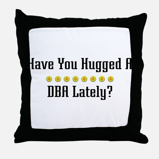 Hugged DBA Throw Pillow