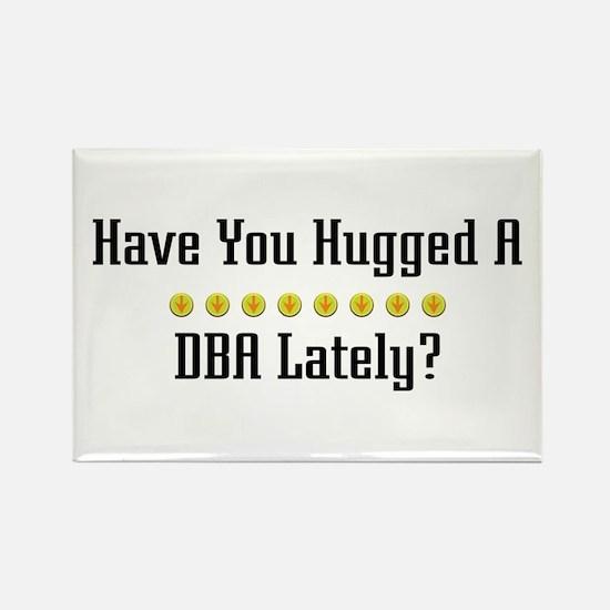 Hugged DBA Rectangle Magnet