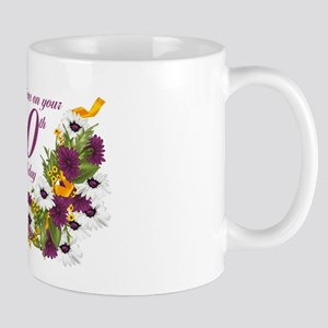 90th Birthday Floral And Butterfly Design Mug Mugs