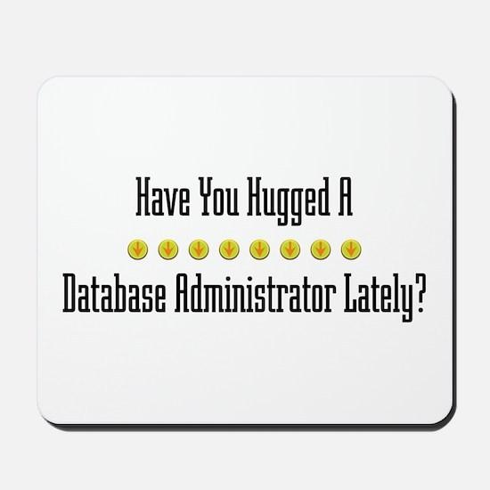 Hugged Database Administrator Mousepad