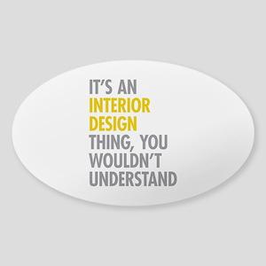 Interior Design Thing Sticker (Oval)