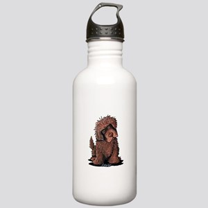 Brown Newfie Stainless Water Bottle 1.0L