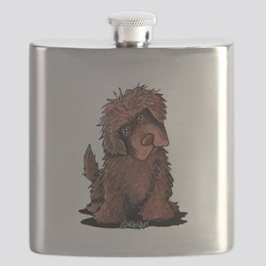 Brown Newfie Flask