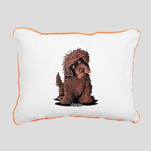 Brown Newfie Rectangular Canvas Pillow