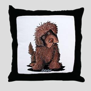 Brown Newfie Throw Pillow