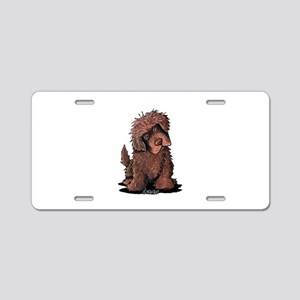 Brown Newfie Aluminum License Plate