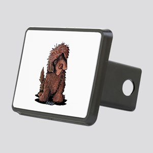 Brown Newfie Rectangular Hitch Cover