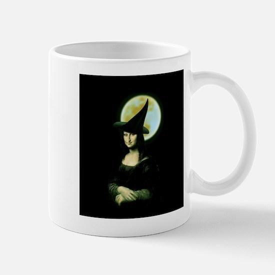 HALLOWEEN WITCH MONA LISA Mugs