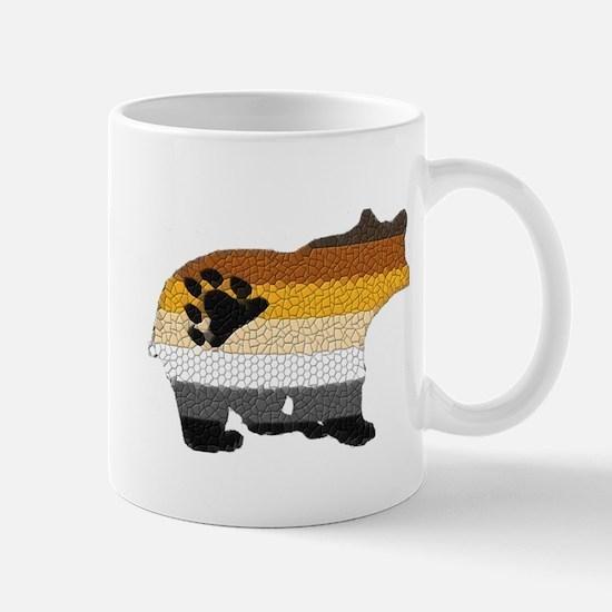 PRIDE BEAR W/MOSAIC STRIPES Mug